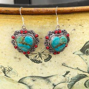 Jewelry - Turquoise Sleeping Beauty Sterling Silver Earrings